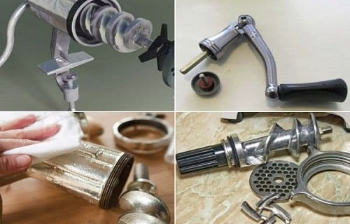 how to clean kitchenaid plastic meat grinder