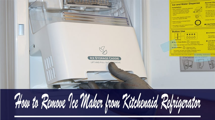 How to Remove Ice Maker from Kitchenaid French Door Refrigerator