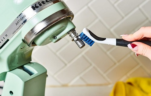 how to clean kitchenaid mixer attachments