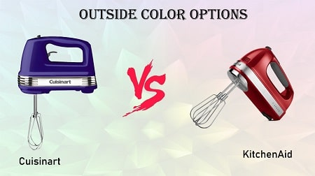 difference between cuisinart and kitchenaid mixer